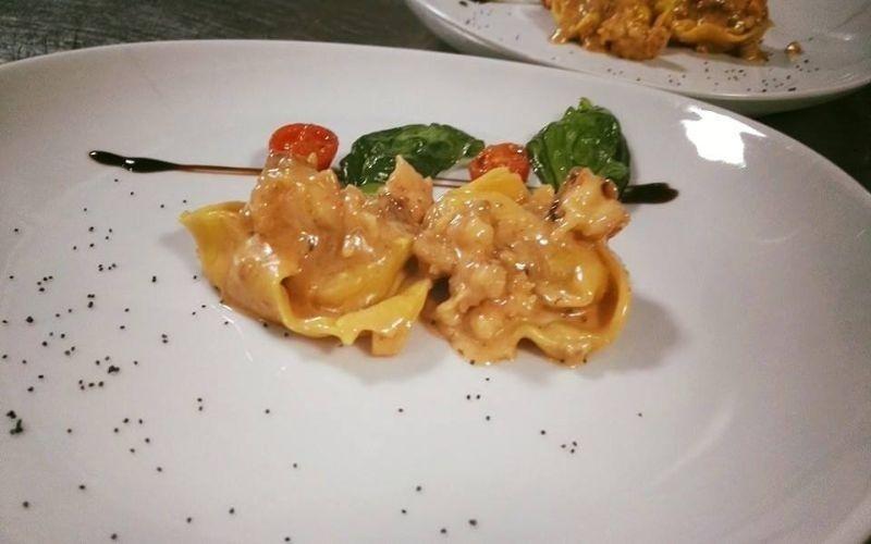 Homemade Tortelli pasta