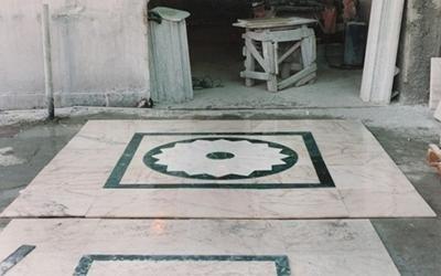 Pavimentazione in marmo