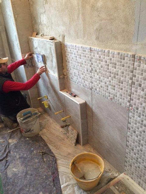 Restauro muro bagno