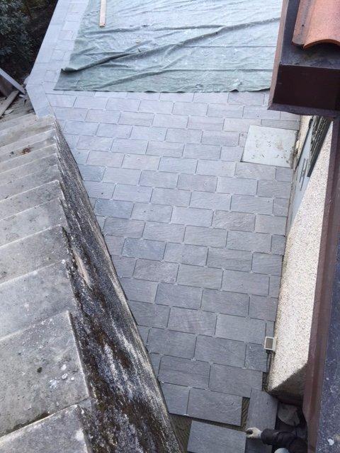 terrazzo in costruzione