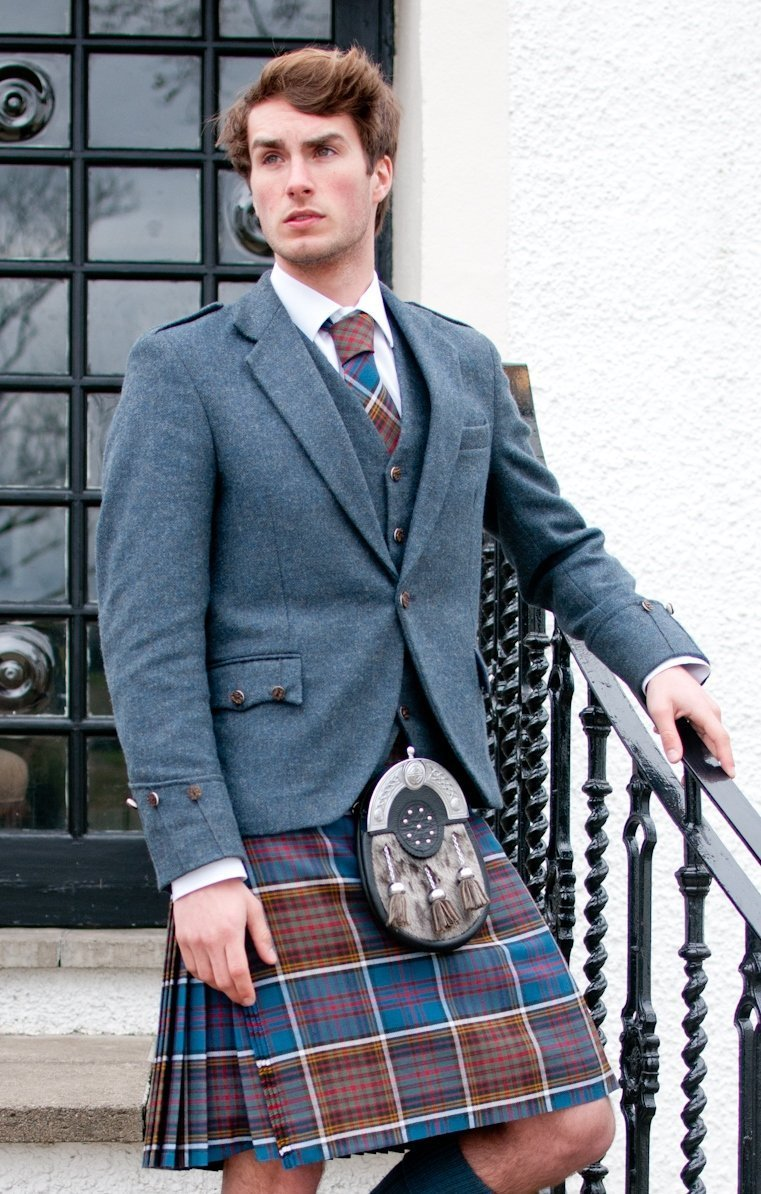 Tartan in red and blue checks