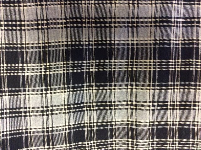 Tartan in black and white checks
