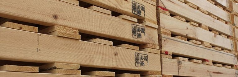 A stack of pallets in Adelaide