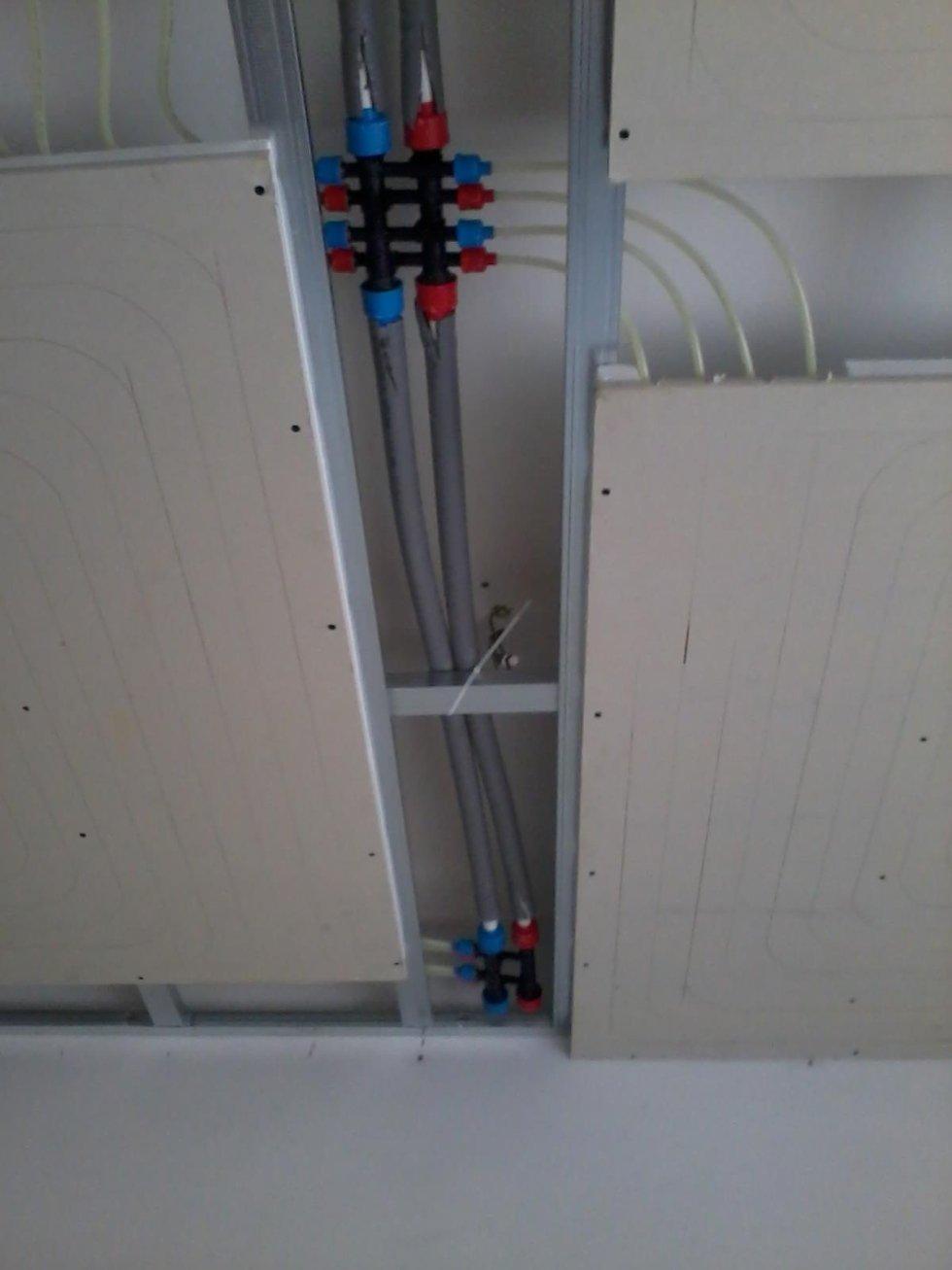 Impianto riscaldamento a soffitto