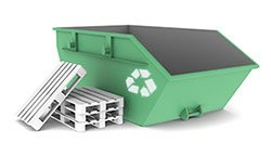 Green colour waste container