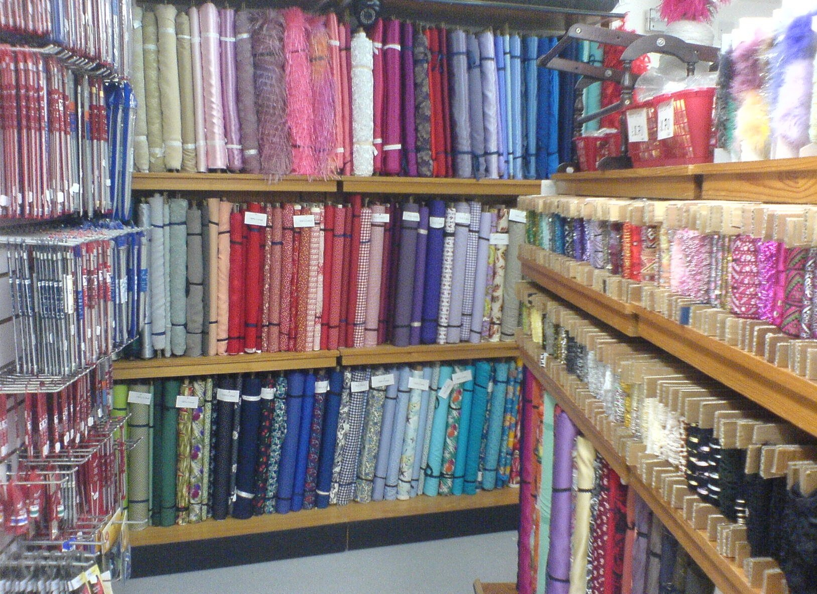 Rolls of patterns in The Sewing Shop