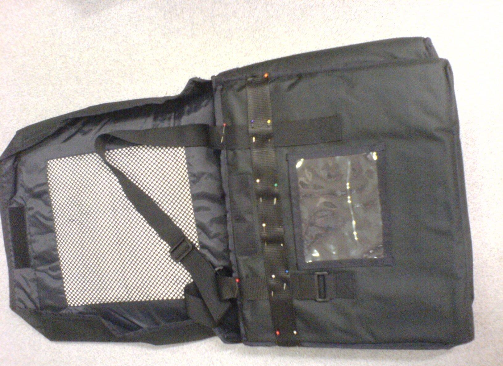 Pizza bag zip fixing