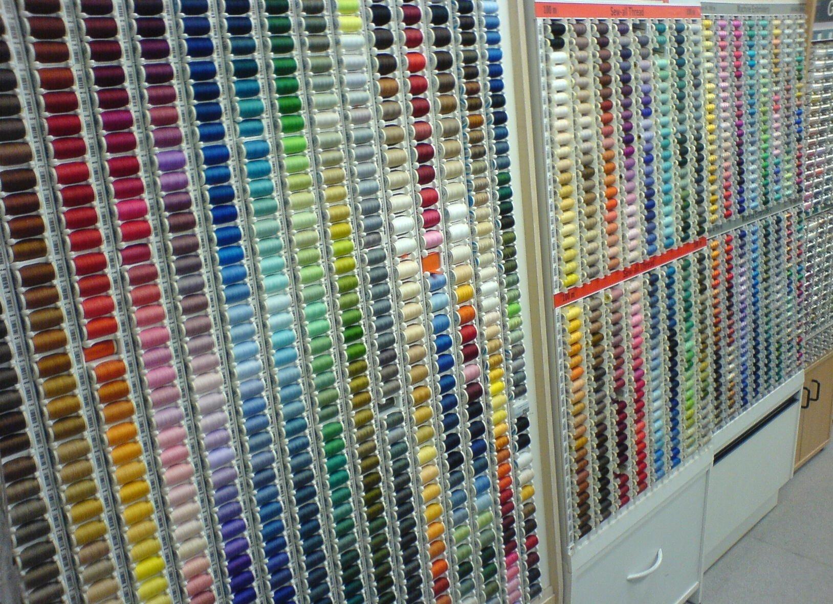 A rainbow of threads
