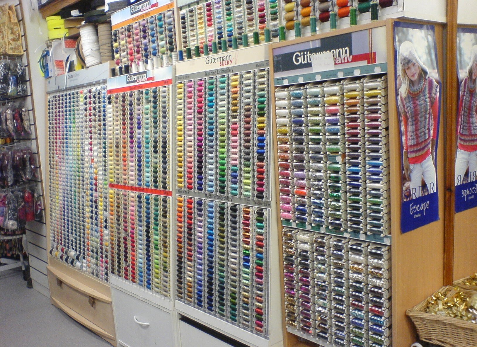 A huge selection of threads in every colour imaginable