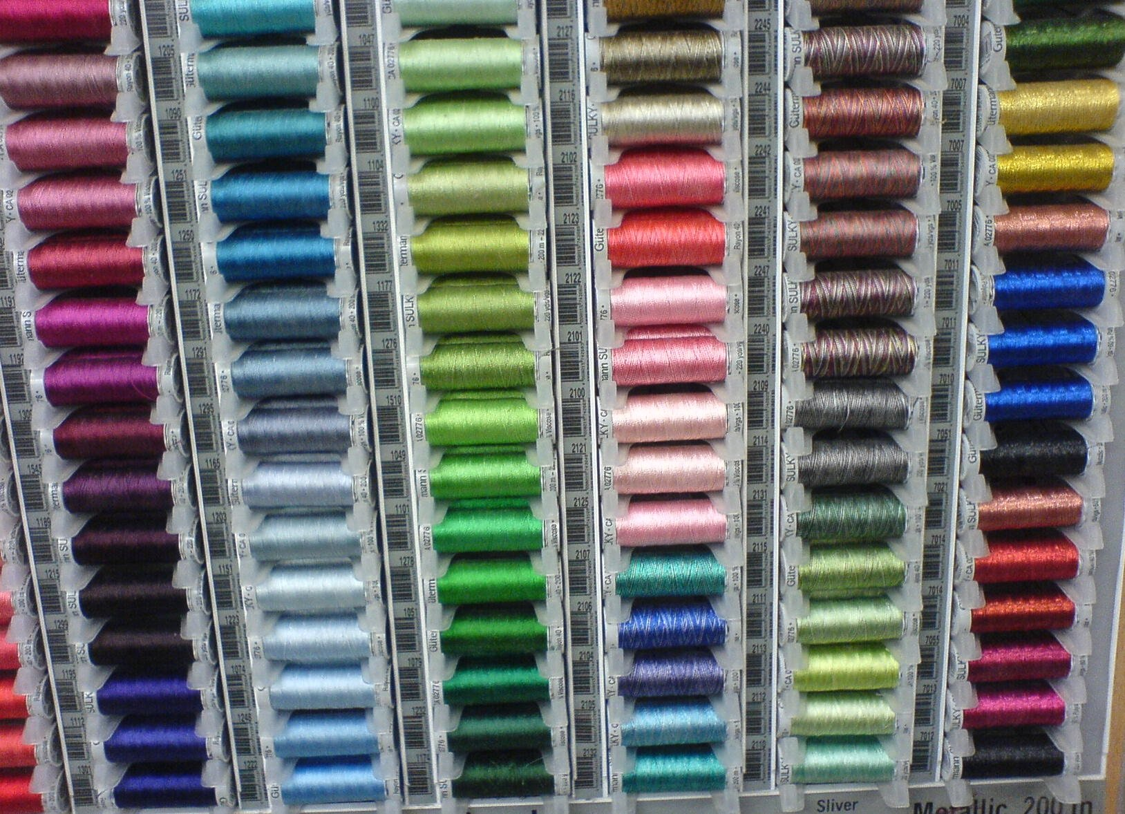 Silk threads in The Sewing Shop