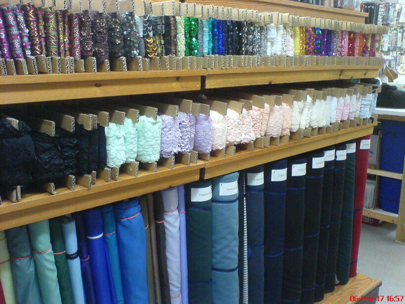Fancy threads in a variety of colours