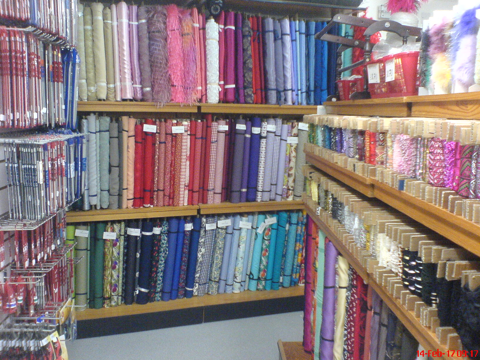 A huge selection of materials in a rainbow of colours