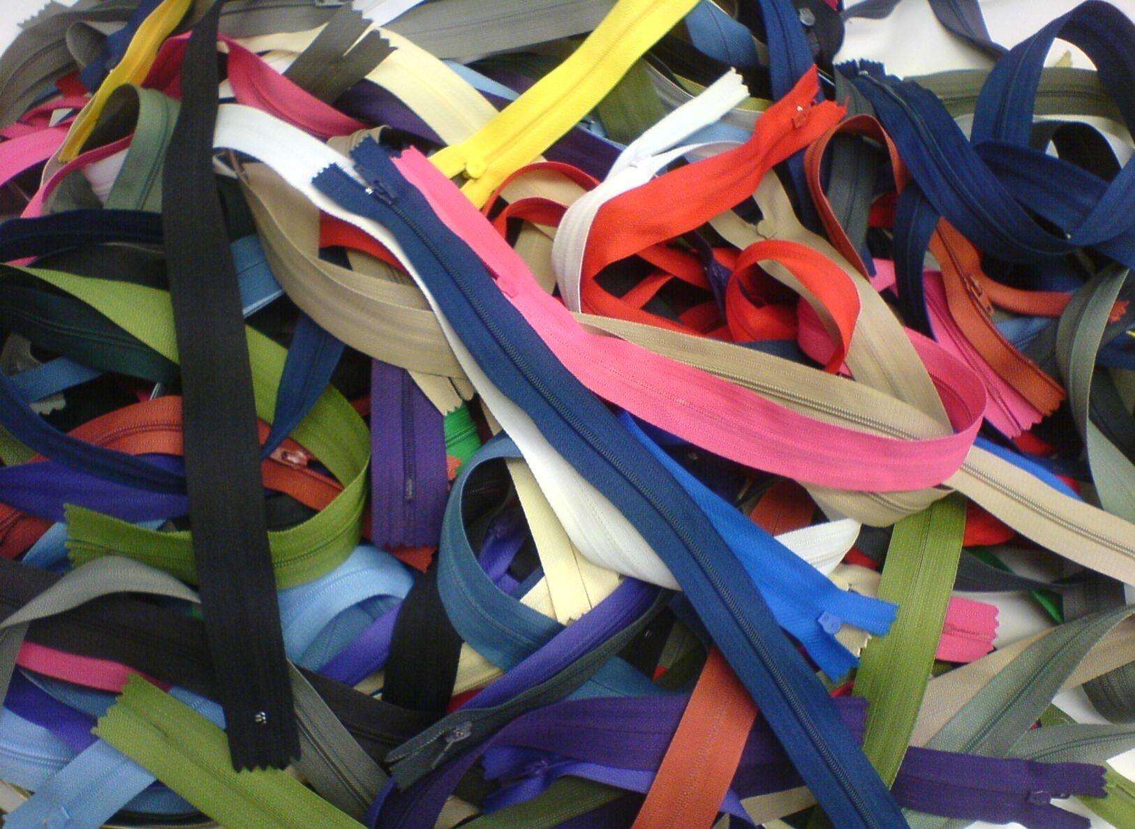Mutli-coloured zips
