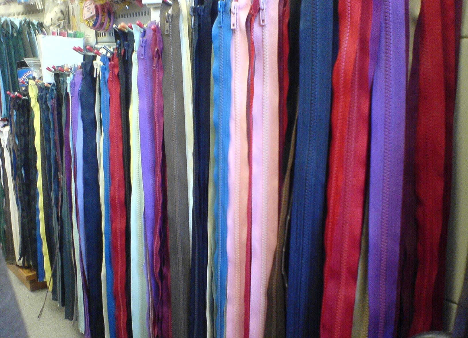 Coloured zips for sale in The Sewing Shop