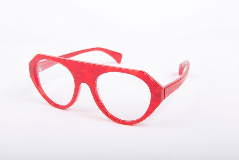 Occhiali color rosso
