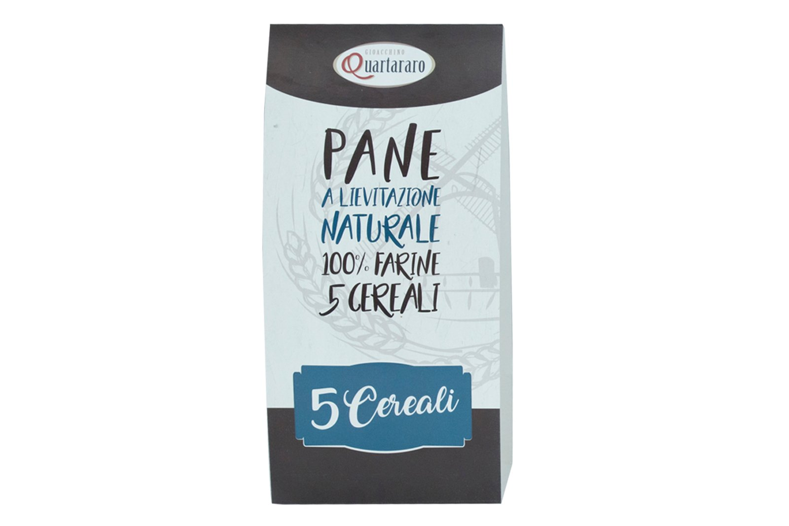 packaging pane ai 5 cereali