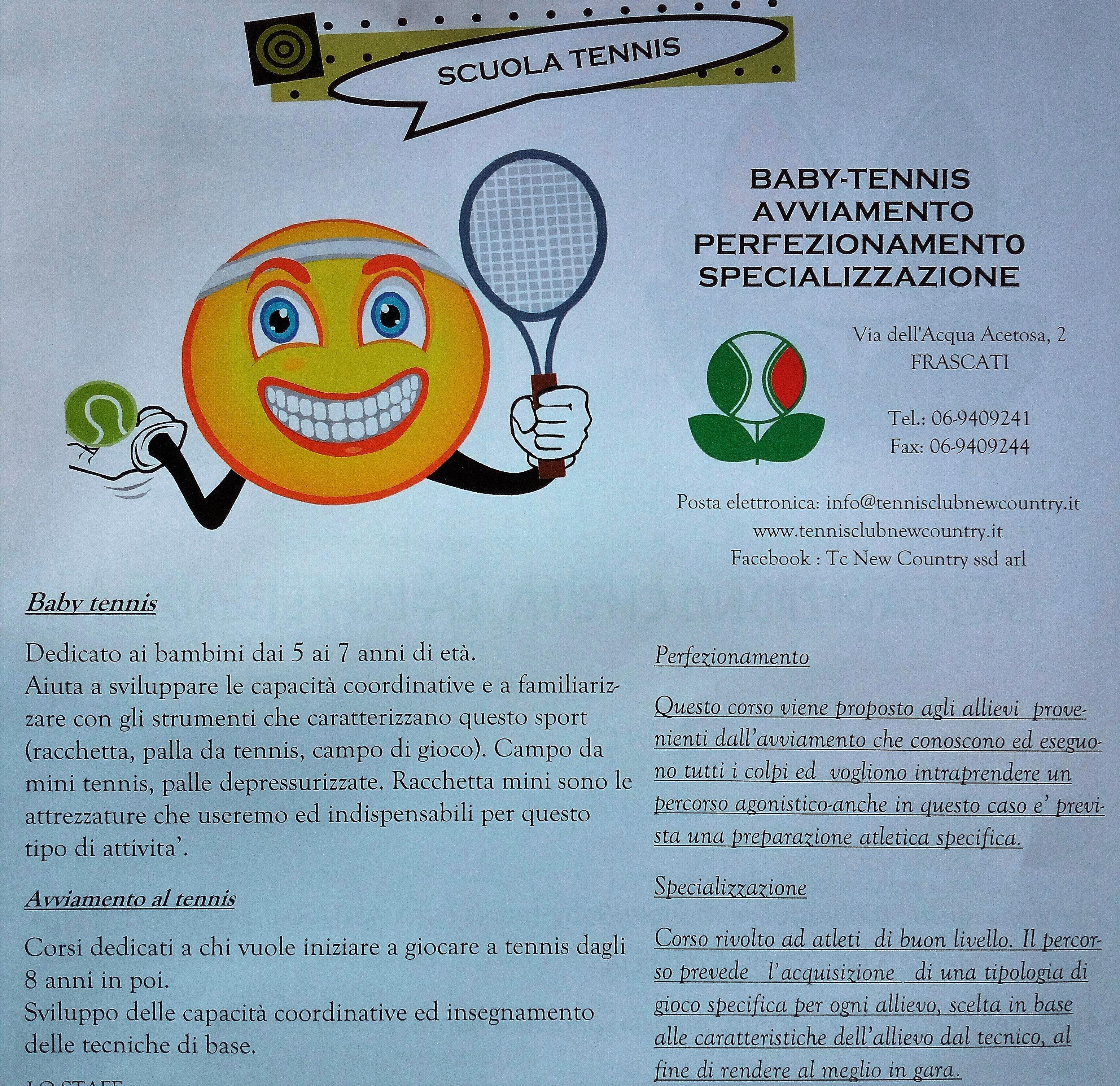 dettagli corso tennis