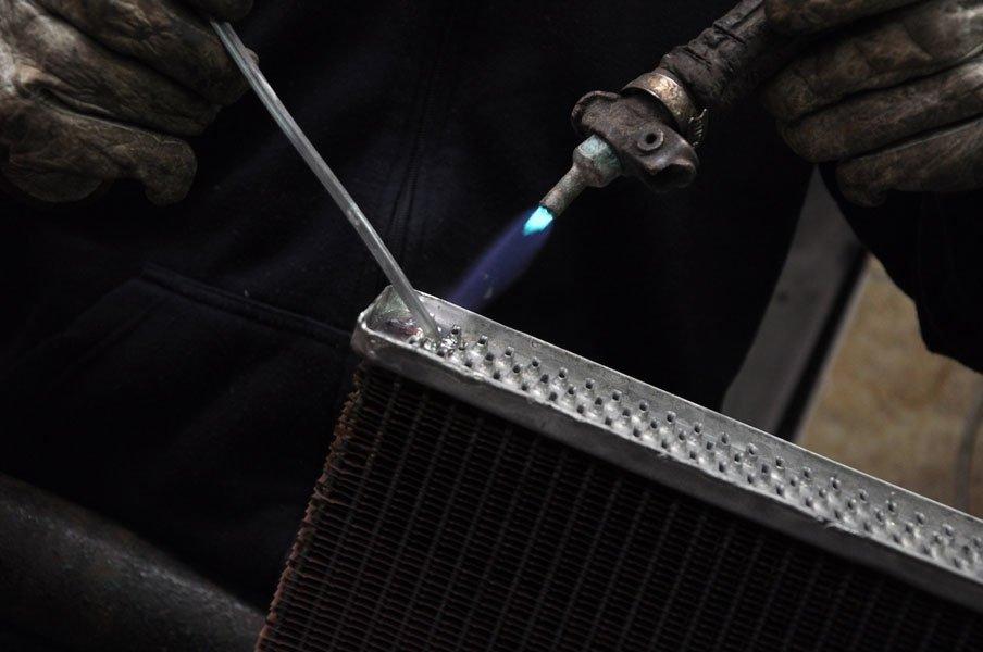 saldatura radiatore alluminio