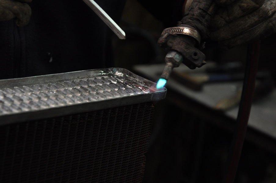 saldatura radiatore in alluminio