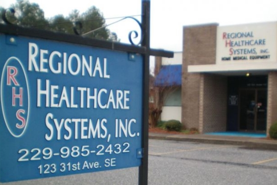 front entrance to Regional Healthcare Systems Inc.