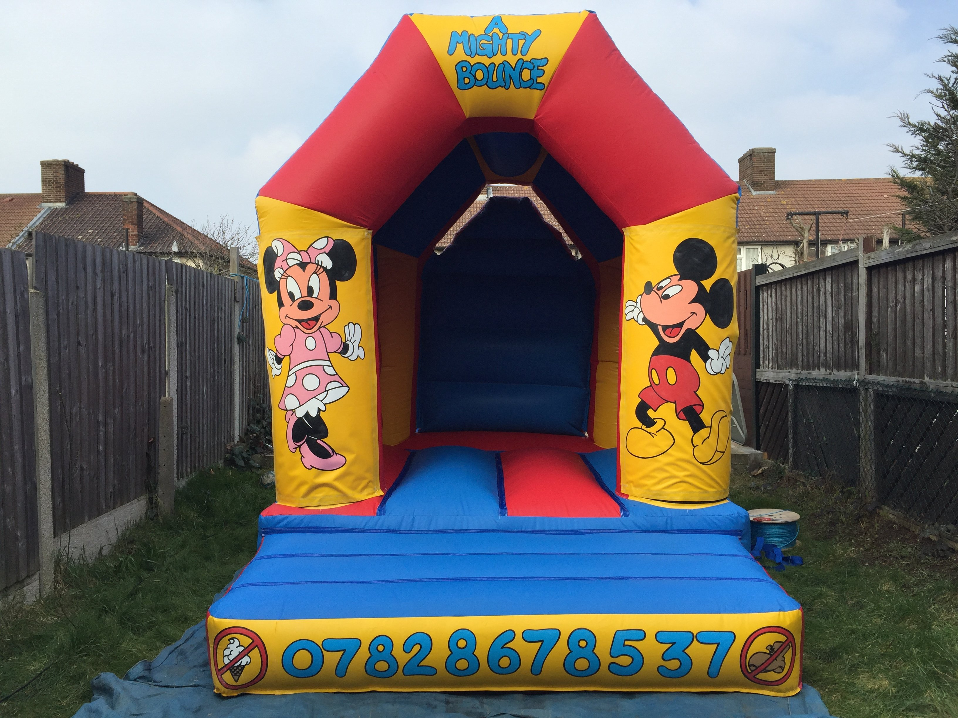 colourful bouncy castles