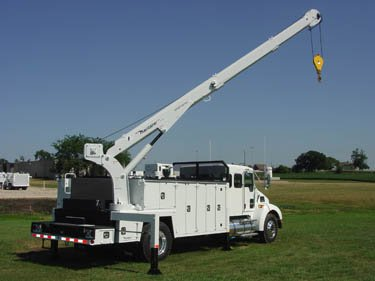 A Maintainer 2 Ton Body with a 12,000lb crane