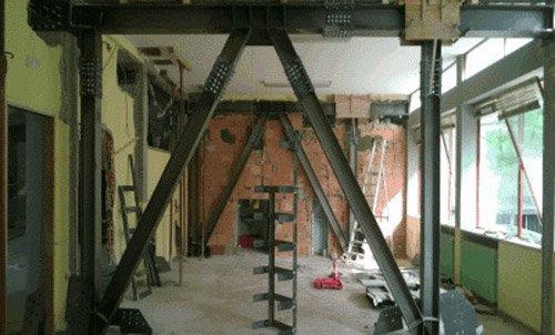 costruzioni interne di un palazzo