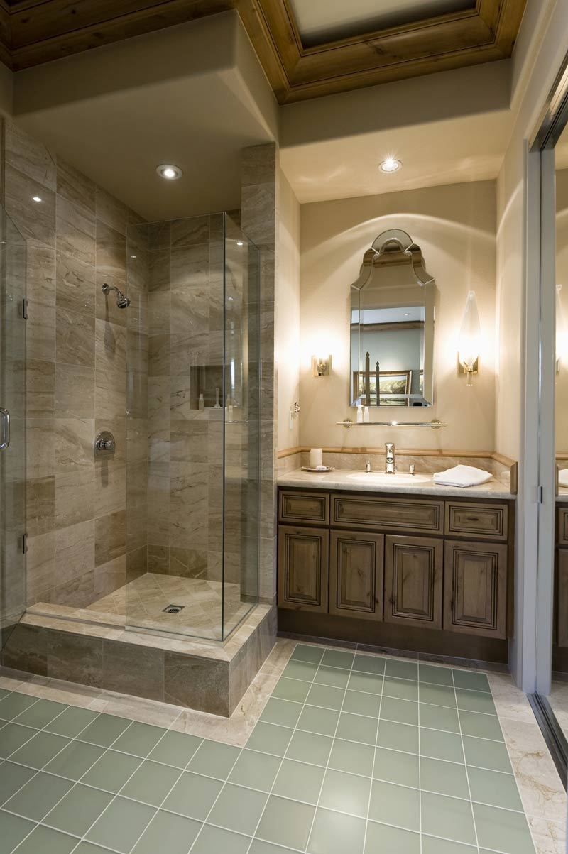 shower screen in luxury bathroom