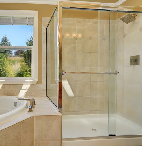sliding glass doors for shower