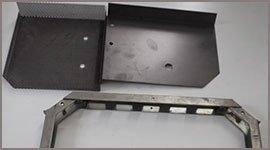 taglio blocchetti di alluminio