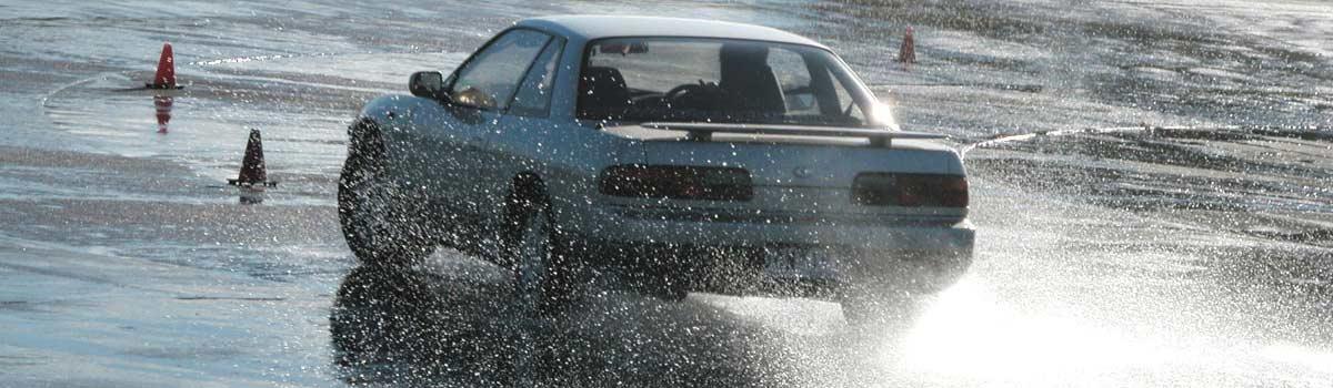 Miro Driving Academy Car in Rain
