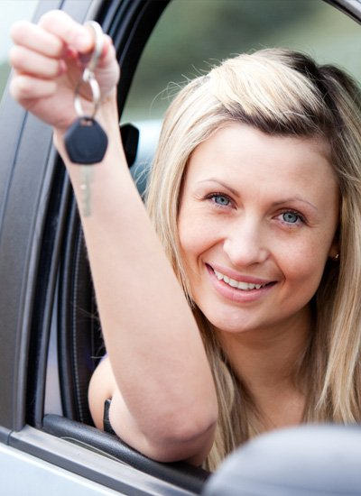 Miro Driving Academy Girl with Car Key