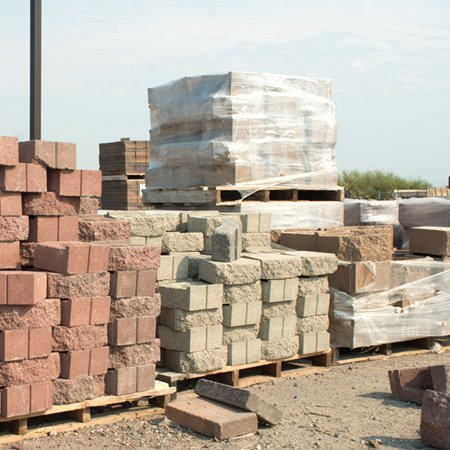 Bricks piled up in building site