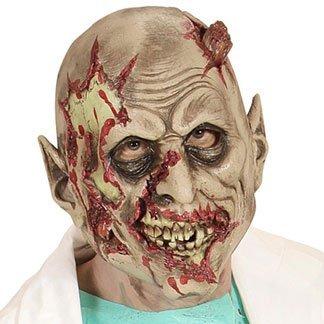 la maschera di un mostro con la faccia bruciata