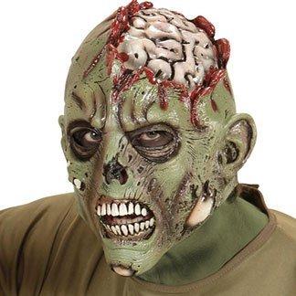 un mostro con una faccia verde e vista del cervello