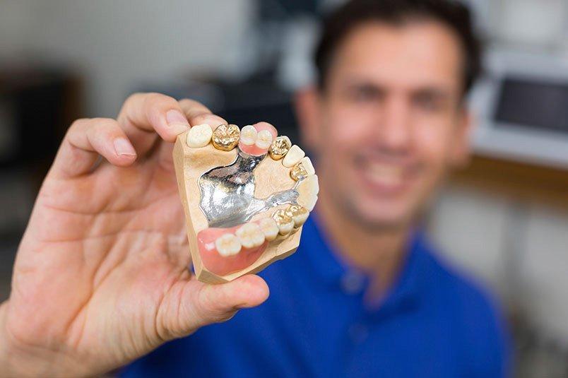 Denture technician working in Perth