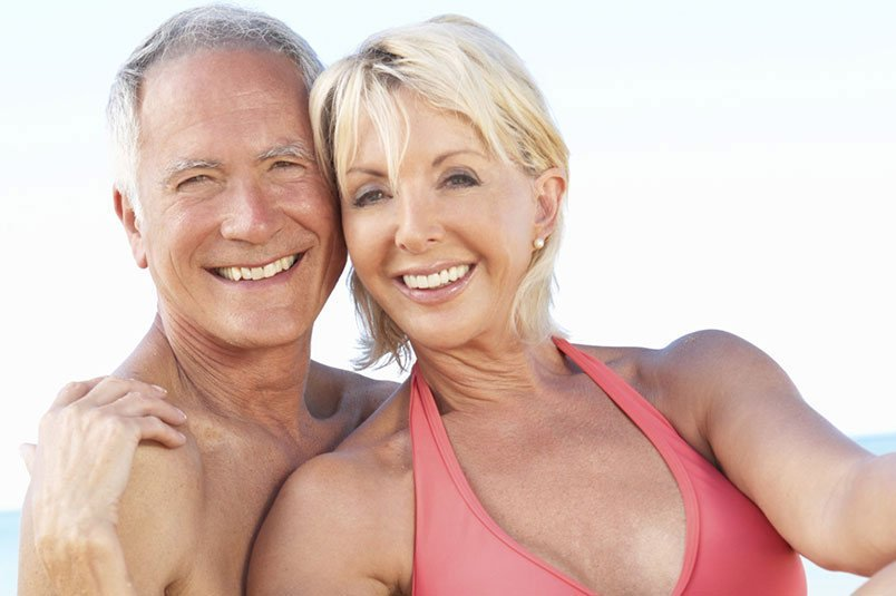 Couple with dentures in Perth