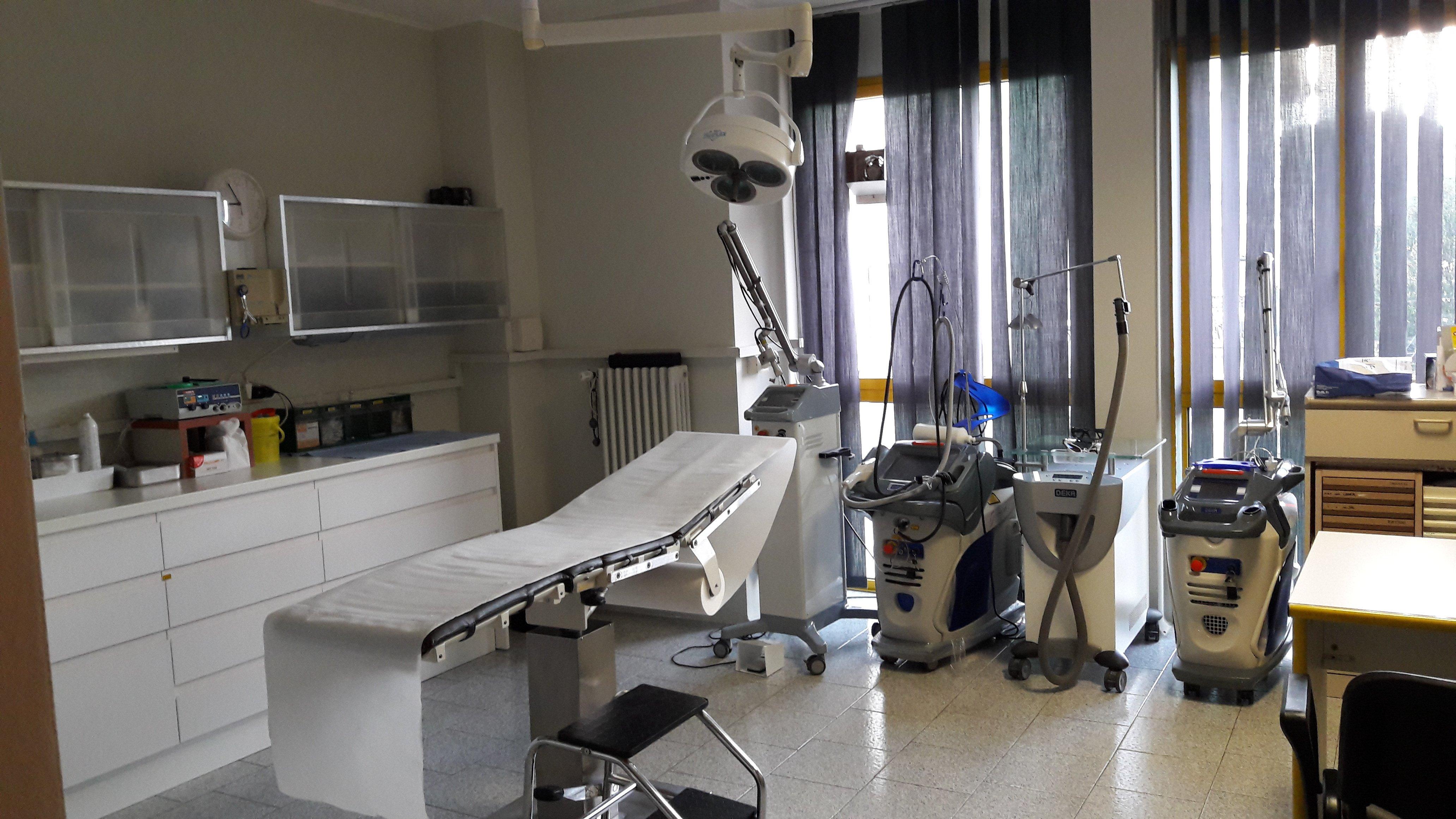 stanza attrezzata per visite mediche