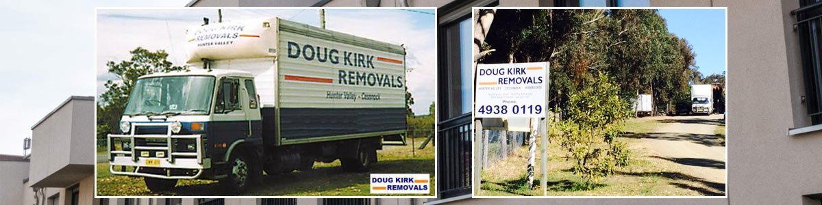 doug kirk removals truck parked in the garden