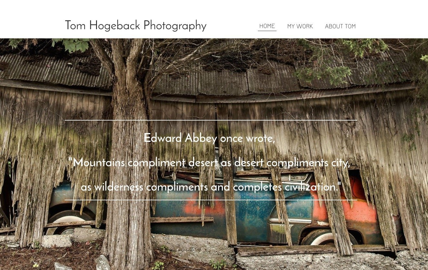 TOM HOGEBACK PHOTOGRAPHY