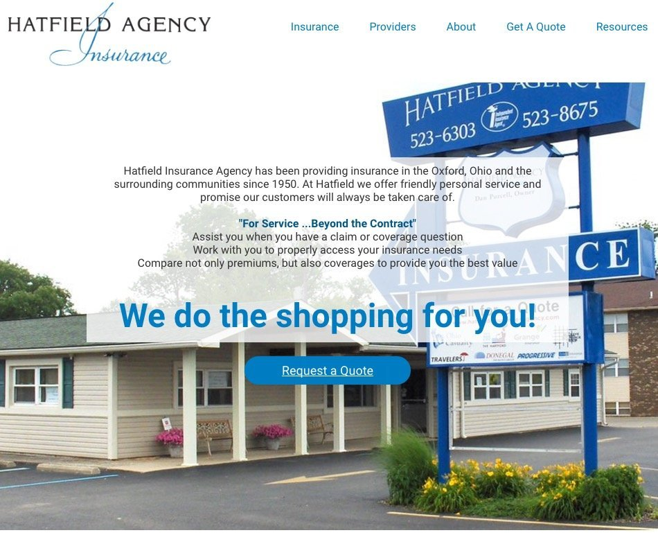 oxford ohio website design insurance agency