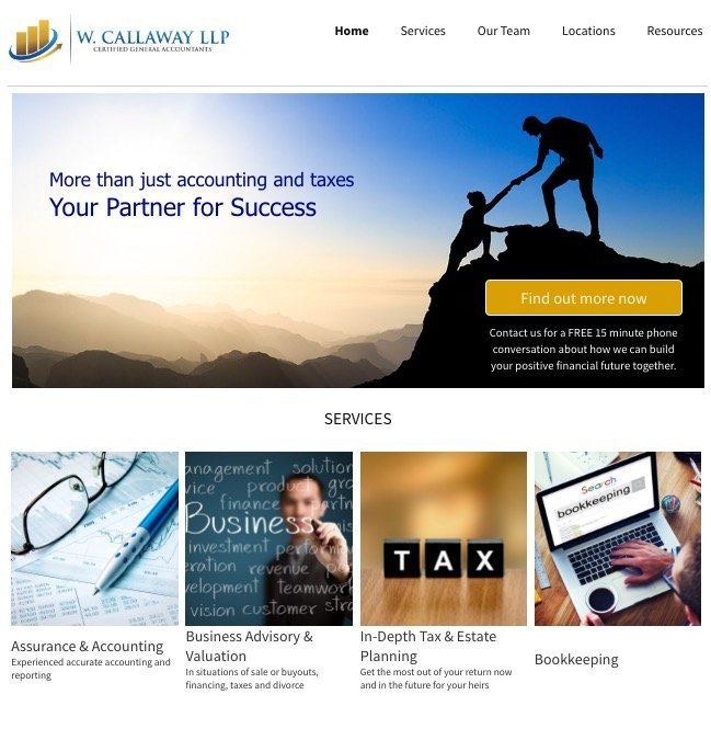 calgary cochrane alberta website design firm accountants