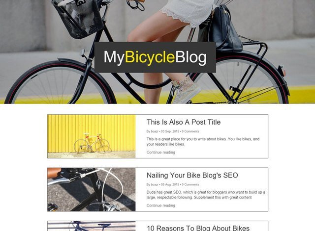 MY BICYCLE BLOG