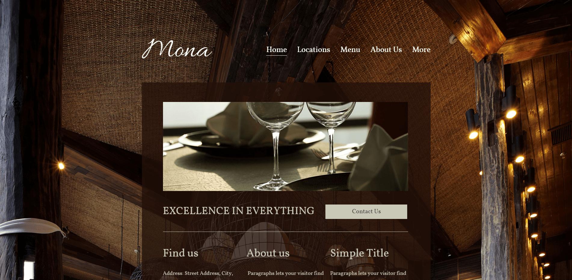 Elegant Restaurant Website