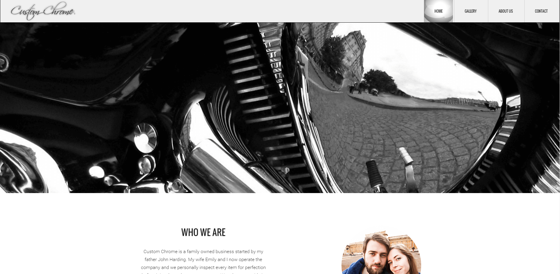 Chrome Shop Website