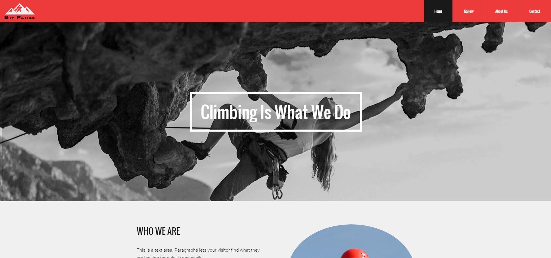 Rock Climbing Website
