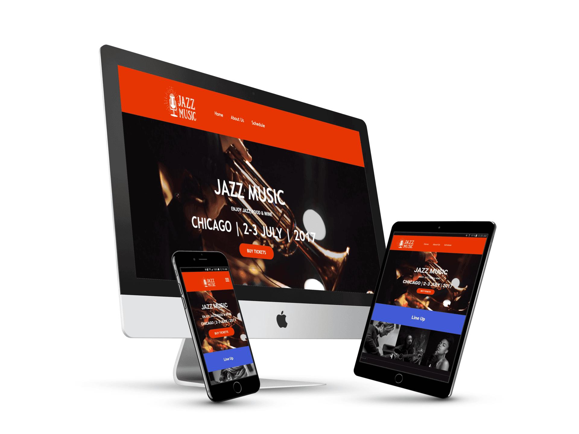 Jazz Music Website
