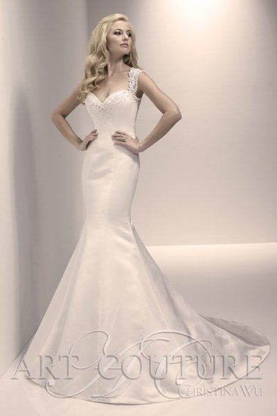 Woman wearing a dress from the he Dunfermline wedding gown suppliers