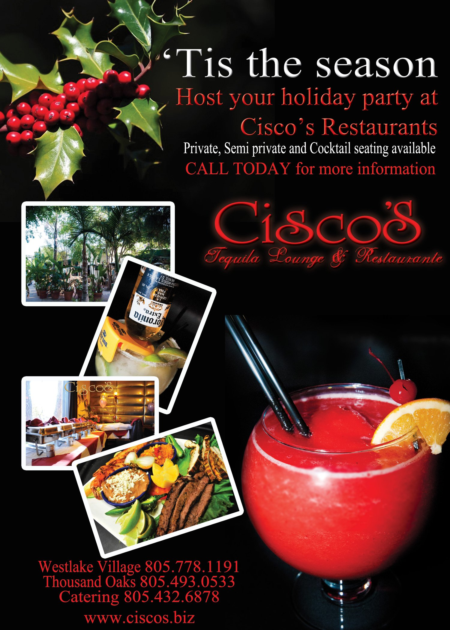 Book your Holiday Events today!