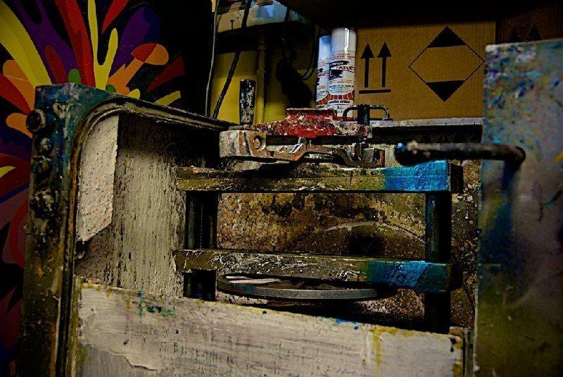 Dettaglio laboratorio - Colorificio Faro